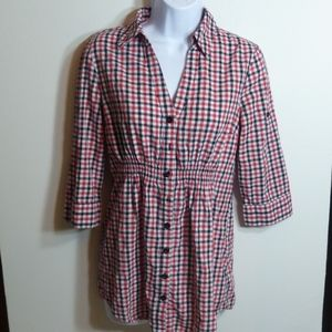 Forever 21 Red Plaid Long Sleeve Shirt